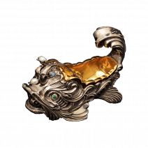 """Kaviarschale """"Goldfisch"""" aus Messing"""