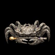 """Silberkaviarschale """"Crab"""""""