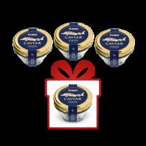 SET, Kaviar vom sibirischen Stör, 3+1x50g