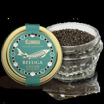 Belugakaviar (Aquakultur), 30g Glas