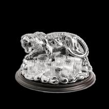 """Wodka-Set """"Tiger"""" mit 6 Gläsern"""