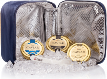 3 Kaviar Delikatessen in einer Lemberg Kühltasche, 3 x 50 g