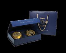 Geschenkbox: Kaviar vom Russischen Stör & Störkaviar Amur Royal,  2 x 100 g