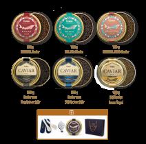 Gourmet SET 6+1   Die ganze Kaviarvielfalt & Geschenke