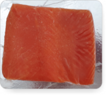 Atlantischer Lachs, Filet mit Haut, kaltgeräuchert, 250g