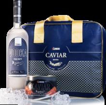 Gorbuscha - Lachskaviar PLATINUM & Wodka Lemberg in einer Kühltasche
