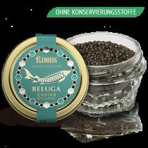 BELUGA Kaviar, OHNE KONSERVIERUNGSSTOFFE, Aquakultur, 50g