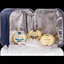 3 Störkaviar-Gläser je 50g in einer Kühltasche Lemberg