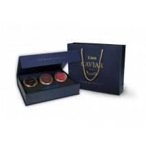 GOLDEN COLLECTION 3 Kaviar Delikatessen in einer Geschenkbox Lemberg, 3 x 30 g