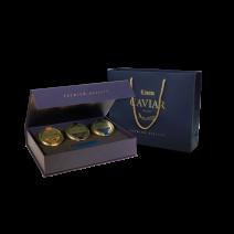 3 Kaviar Delikatessen in einer Geschenkbox, 3 x 30 g