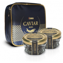 Osietra caviar in Lemberg isothermic bag, aquaculture, 2 x 50 g