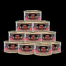 Adventset 10 Dosen Gorbuscha - Lachskaviar GRAND PREMIUM 140 g