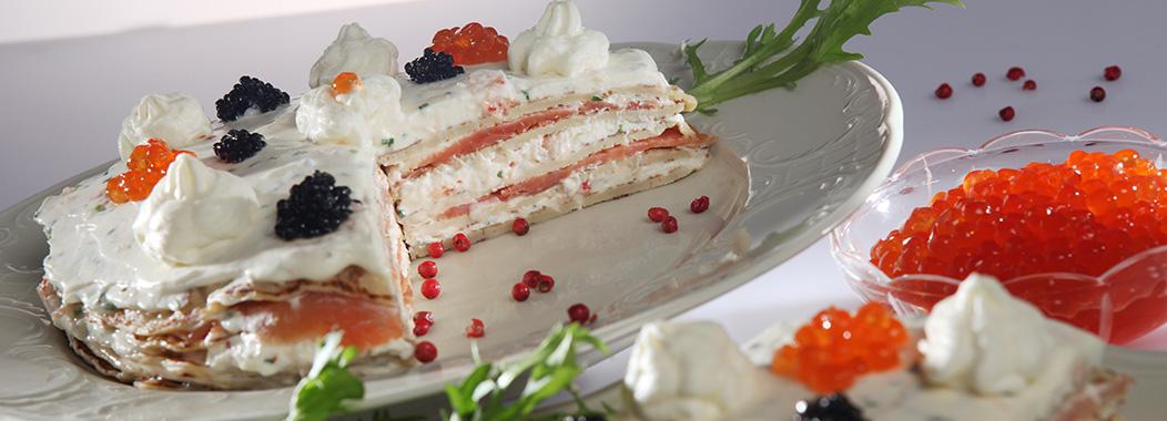 Herzhafte Pfannkuchen-Torte